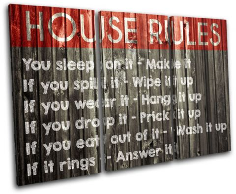 Family House Rules Typography - 13-2375(00B)-TR32-LO